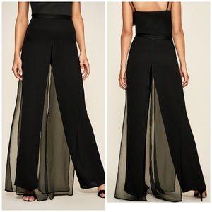 Tadashi Shoji 100% Silk Extra High Waist Pants